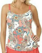 Ocean Dream Signature Paisley Bliss Shirred Tankini TOP Only~A232899