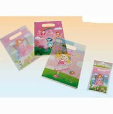 3 designs- 6 x Kids Fairy Pink Birthday Party Loot Carry Favour Bags 22x17cm