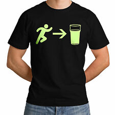 Exit To Beer New Funny Top Glowing Men Women Casual T-Shirt Drink Calm Life *g19
