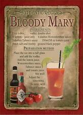 RETRO METAL PLAQUE :Bloody Mary Cocktail sign/ad