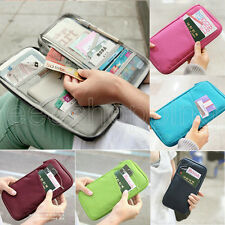 HOT PASSPORT CREDIT CARD ID CARD CASH HOLDER ORGANIZER POUCH BAG WALLET 6 COLOR