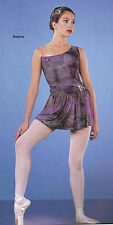 Goddess Lyrical Ballet Dance Ice Skating Dress & Headwrap Costume Child XS & Sm