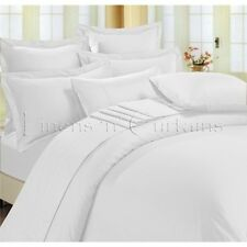 USA&CANADA FREE F1200TC EGYPTIAN COTTON QUILT/ DUVET SET WHITE SOLID CHOOSE SIZE