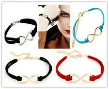 One Direction Infinity Thread and Chain Wrap Bracelets 8 colours