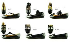 GIRLS LADIES ADULT BLACK CASUAL SCHOOL FORMAL BALLET SHOES VARIOUS STYLES FAB699