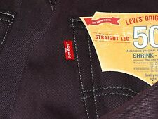 Levi's 501 Original Buttonfly Shrink-to-Fit Jeans Eggplant #1498