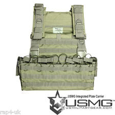 INTEGRATED PLATE CARRIER MOLLE SYSTEM AIRSOFT WEBBING VEST (LARGE) ALL COLOURS