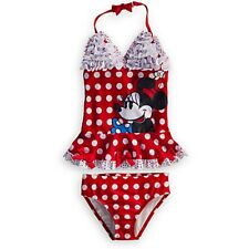 Disney Store Deluxe Red Minnie Mouse Swimsuit Tankini Polka Dots All Sizes NWT