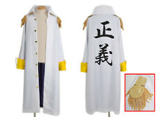 One Piece Kizaru Admiral's Jacket Costume Cosplay Anime Manga NEW