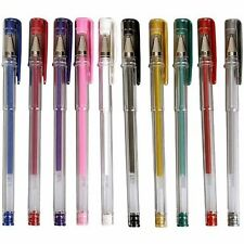 GEL PENS GOLD AND SILVER COLOURS NEON GLITTER METALLIC SHINY SPARKLY INK ROLLER