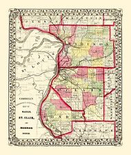 MADISON, ST. CLAIR, AND MONROE COUNTIES ILLINOIS (IL) BY CAMPBELL 1850
