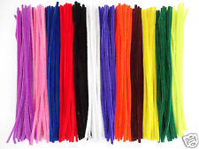 """100 x CHENILLE STEMS LONG CRAFT PIPE CLEANERS - SIZE 12"""" / 30CM - COLOUR CHOICE"""