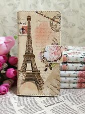 New Flower Paris Eiffel Tower Leather Cover Case For Many mobile phones