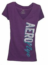 Women's AEROPOSTALE T-Shirt V neck Purple Size,XS,S,M,L,XL 3434709083 R2-3