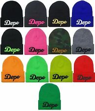 TRENDY COOL HIP CUFFED DOPE 3D EMBROIDERY BEANIE HAT SKULL CAP