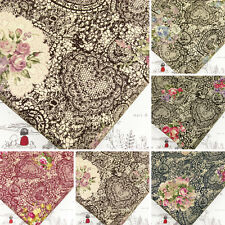 Vintage BOUQUET ROSE FLOWER on HEART LACE PRINT Retro COTTON FABRIC #VK27 per FQ