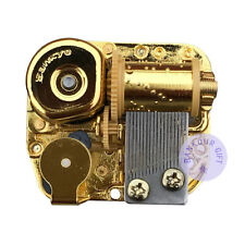 Golden Plated Sankyo Musical Movement Play More than 10 Melody for DIY Music Box