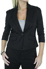 NEW (5096-1) 3/4 Sleeve Smart Crop Jacket Black sizes 8-18