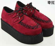 15 COLOUR GIRL HIGH PLATFORM WOMEN TRENDY RETRO FLAT TRIPLE CREEPER SHOES BOOTS
