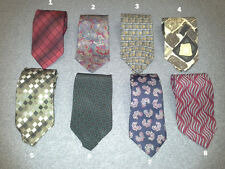 GEOFFREY BEENE 100% Silk Multicolor Geometric Mens Neck Ties NEW Choose Color