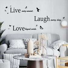 Large Live Laugh Love Wall Stickers Art Mural Quote Living Room Decals
