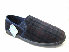 Men Clarks Slippers Key Mac Navy Textile G fitting