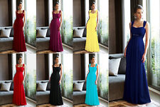 Long Chiffon Evening Formal Party Ball Prom Bridesmaid Dress STOCK Size 6--16