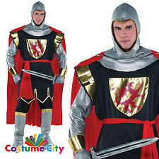 Mens Medieval Crusader KNIGHT Soldier Fancy Dress Stag Costume STANDARD PA