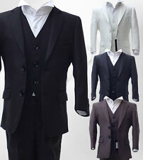UK BOYS 3 PIECE FORMAL PAGEBOY SUITS COMMUNION WEDDING SUIT AGE 6 M TO 15 YRS