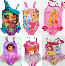 Girls Kids Princess Barbie Fairy Dora Swimsuit Swimwear Bathing Swimming SZ2-9Y