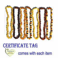 Genuine Baltic Amber Baby Teething Necklace-Baroque
