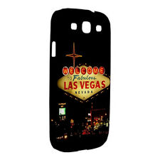 NEW Samsung Galaxy S3 S4 Hard Shell Case Plastic Cover Welcome To Las Vegas City
