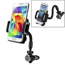 CAR MOUNT LIGHTER SOCKET PLUG DOCK CRADLE USB CHARGING PORT for VERIZON PHONES