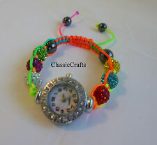 Whole sale Bling Disco Ball Bracelet Style Pave Crystal Disco Beads Watch-4style