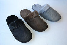 New Men`s Home indoor winter Fluff warm soft casual cotton slippers Size 7~12