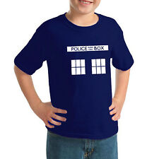 Police Box Retro T-shirt. Adults and Children by The Generic Logo Company