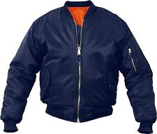 Navy Blue Military Air Force MA-1 Reversible Bomber Coat Flight Jacket