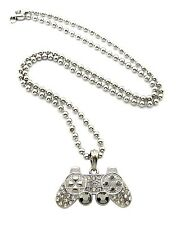 "New Iced Out Game Controller Hip Hop Pendant &30"" Ball Chain Necklace MSP381BX"
