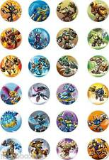 24x PRECUT MIXED NEW/SWAPABLE SWAP FORCE SKYLANDERS  RICE PAPER CUP CAKE TOPPERS