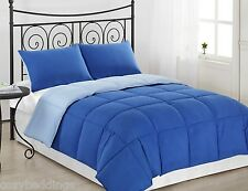 Royal Blue, L. Blue 3p Reversible Down Alternative Comforter Set Twin Queen King