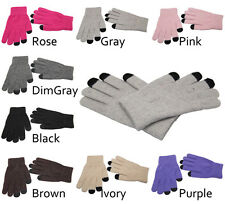 Magic Touch Screen Gloves Smartphone Texting Stretch Adult Free Size Winter Knit