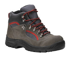 MENS STEELITE SAFETY ALL WEATHER HIKER SUEDE LEATHER BOOTS S3 BROWN FAB726
