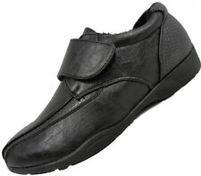DR KELLER WOMENS SOFT COMFORT FLAT BLACK WORK SHOES VELCRO  LOW HEEL  3 -8
