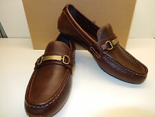 NEW COLE HAAN SOMERSET BIT II EARTH TUMBLED LEATHER DRIVING MOCS W. BRASS BIT