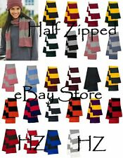 Rugby Striped Knit Scarf School TEAM COLORS SCARVES SP02 WHOLESALE 50 PIECES