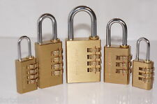 Fortxlocks resettable Brass combination padlock luggage toolbox cupboard