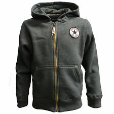 CONVERSE Chuck Patch Full Zip Hoodie Kids - Charcoal