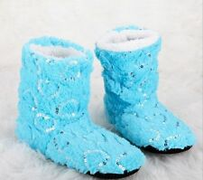GIRLS' Women's CUTE Glitter Shinning Christmas Shoes Sock Slippers Indoor Boots