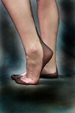 Voluptua Fully Fashioned Stockings Cuban Heel Black Colour S and M PERFECTS