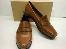 "NEW COLE HAAN ALEXA 3/4"" SOFT SADDLE BROWN LEATHER CLASSIC STYLE PENNY LOAFERS"